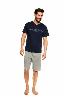 Henderson Urso 36831-59X Granatowo-szara piżama męska
