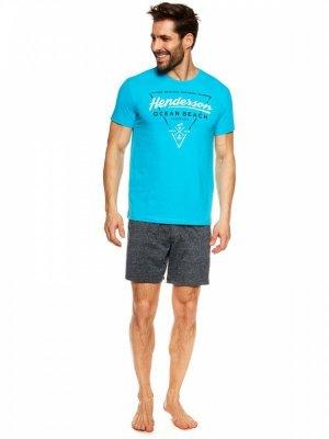 Henderson Jump 36824-55X Niebiesko-granatowa piżama męska