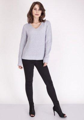 MKMSwetry Victoria SWE 123 Jasny szary sweter damski