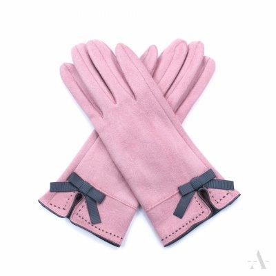 Art of Polo St. Louis Różowe rękawiczki damskie