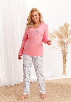 Taro Iga 2462 AW/20 - Kolor 01 - Łososiowy-szary jasny piżama damska