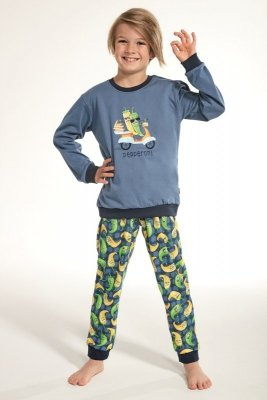 Cornette 593/91 Kids Pepperoni Niebieski Piżama chłopięca