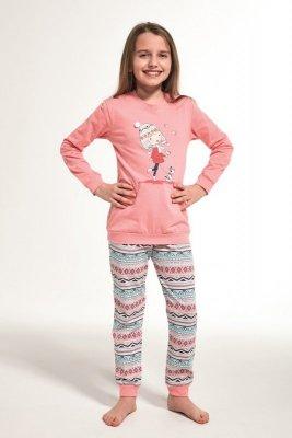 Cornette 594/107 Kids Walk Różowy Piżama dziewczęca