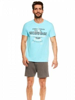 Henderson Join 36823-50X Niebiesko-szara piżama męska