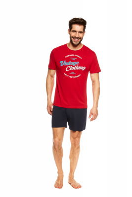 Henderson Jones 36825-33X Czerwona piżama męska