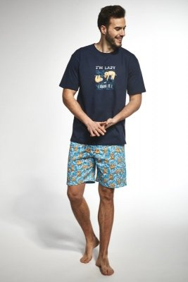 Cornette 326/73 i`m lazy granatowy piżama męska