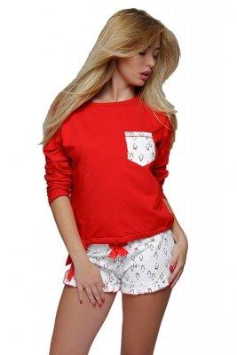 Sensis Red Penguin Piżama damska