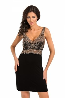 Donna Gloria II czarna Koszula nocna