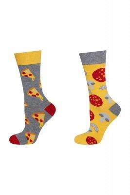 Soxo Good Stuff Nie do pary - pizza skarpety damskie