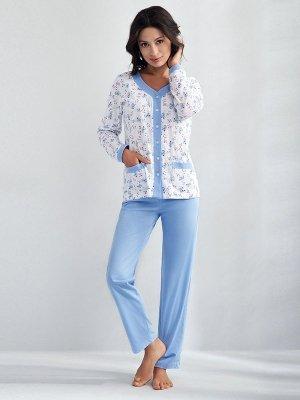 Luna Barbara 538 Niebieska piżama damska