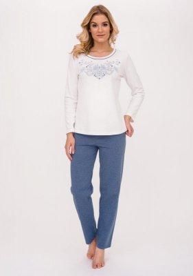 Cana Ramona 390 Ecru jeans-melanż piżama damska