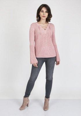 MKM Kylie SWE 117 Pudrowy róż sweter