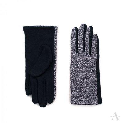 art of polo Pieprz i sól Czarne rękawiczki