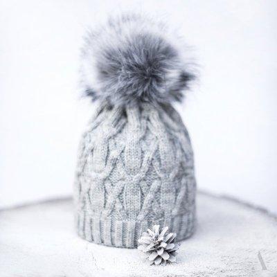 art of polo Królowa zimy Szara czapka