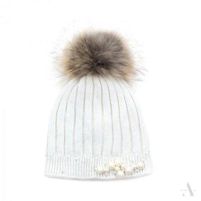 art of polo Perła elegancji Kremowa czapka