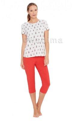 Wadima Cute 104404 kr.ręk. spodnie 3/4 piżama damska