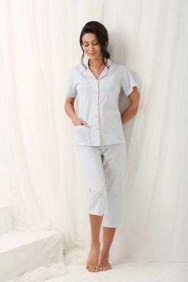 Luna  Brenda 573 Szara piżama damska