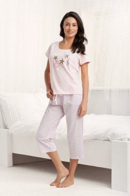 Luna  Holiday 677 Różowa piżama damska