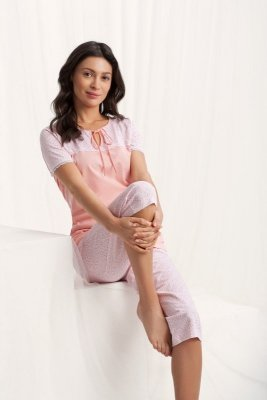 Luna  Emily 567 Morelowa piżama damska