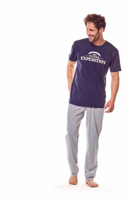 Henderson Fiord 36206-59X Granatowo-szara piżama męska