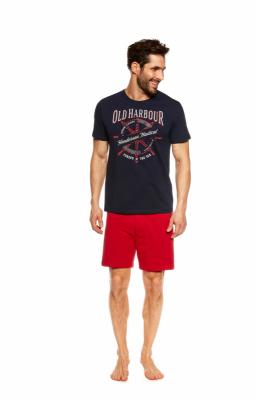 Henderson Just 37120-59X Granatowo-czerwona piżama męska