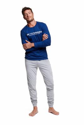 Henderson Wise 37310-59X Granatowo-szara piżama męska