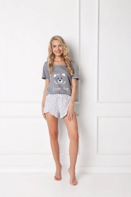 Aruelle Huggy Bear Short Grey piżama damska