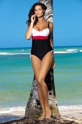 Kostium kąpielowy Marko Whitney Nero-Bianco-Ginger M-253 Biało-czarno-czerwony (206)