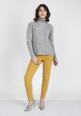 MKMSwetry Estelle SWE 121 Szary sweter damski