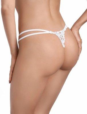 Ewana Kissy 008 Białe stringi damskie