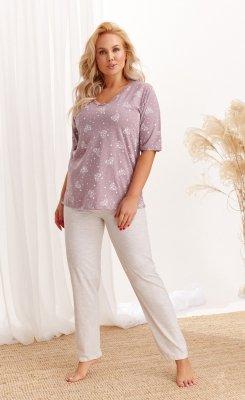 Taro Lidia 2465 AW/20 - Kolor 02 - Mocca-beż piżama damska