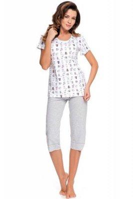 Dobranocka pm 9004 ecru piżama damska
