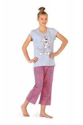 Cornette 556/17 Panther szary piżama dziewczęca