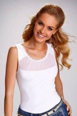 Eldar Lorenza biały bluzka damska