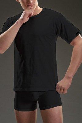 Cornette authentic 202 krótki rękaw czarny koszulka