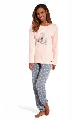 Cornette 627/125 Be my star różowy piżama damska