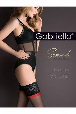 Gabriella 474 victoria nero/nero/red pończochy