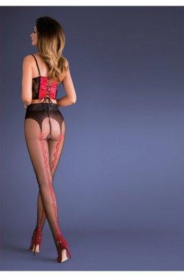 Gabriella erotica 667 carmen nero/red rajstopy