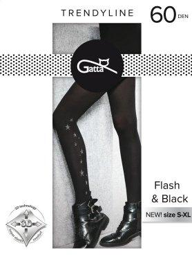 Gatta Flash & Black wz.02 60 den 5XL rajstopy