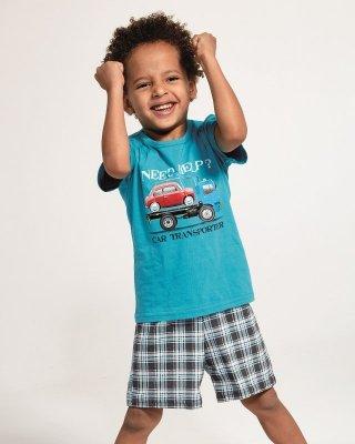 Cornette Kids Boy 789/80 Car Transporter  86-128 piżama chłopięca