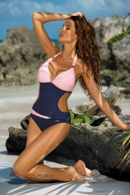 Monokini Marko Beatrix M-337 Blueberry-Rosa Confetto