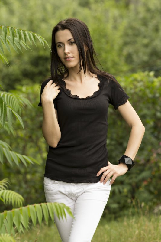 Vittoria Ventini Justine czerń bluzka damska
