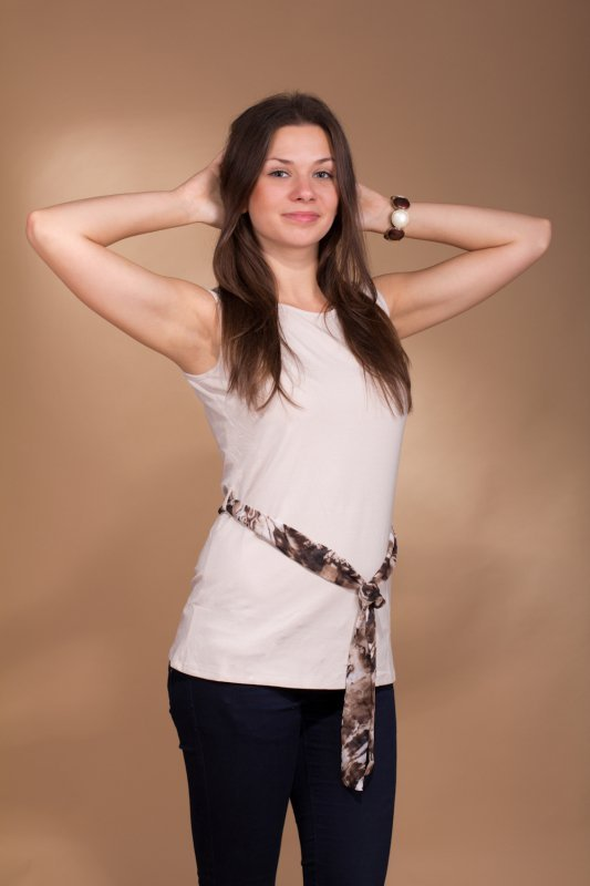 Lookat Lucinda 3980 beżowa bluzka damska