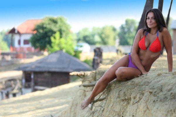 Demi saison Primavera Bikini czerwony Kostium kąpielowy