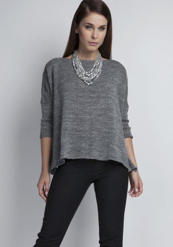 MKM Arkadia SWE040/1 grafitowy sweter