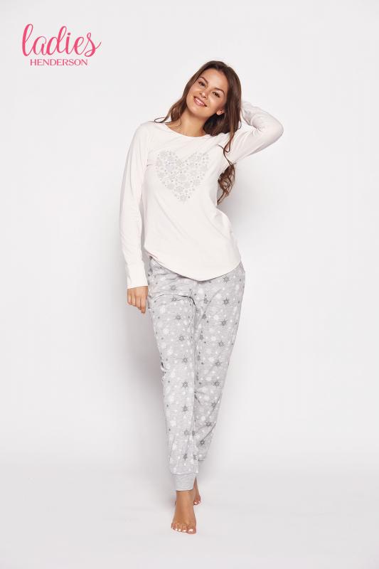 Esotiq Gioia 35599-03x Różowo-szara piżama damska