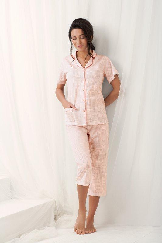 Luna  Brenda 573 Morelowa piżama damska