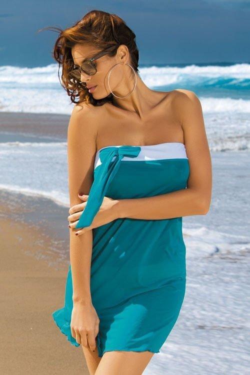 Tunika plażowa Marko Mia Luxury M-241 Morska Zieleń (200)