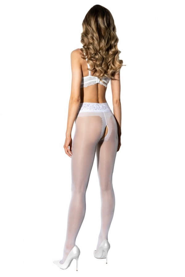 Amour Hip Lace White 30 DEN Rajstopy