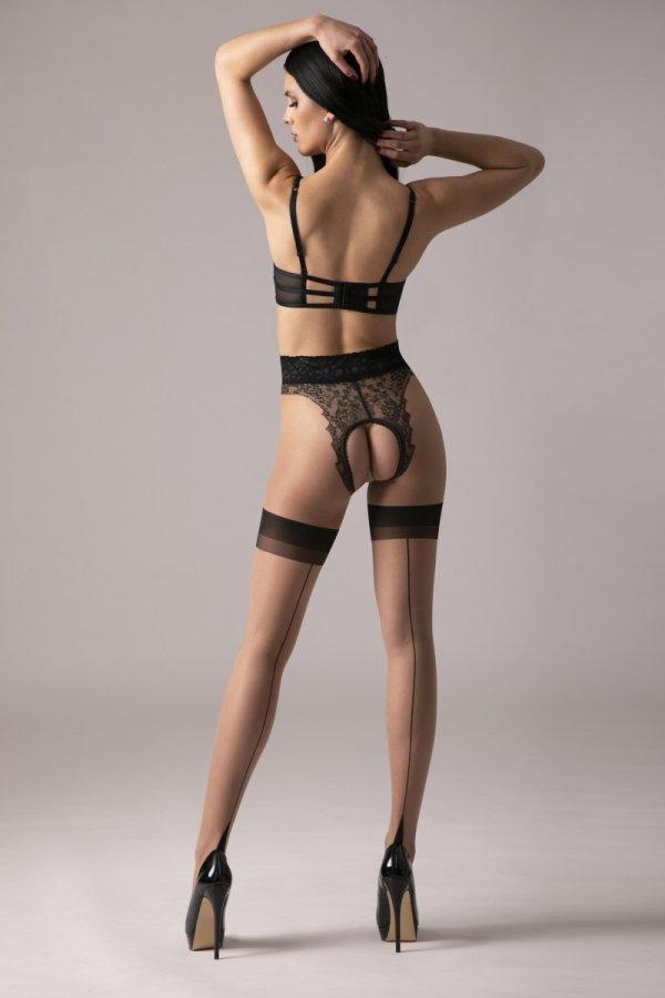 Amour Diva Beige/Black 30 DEN Rajstopy